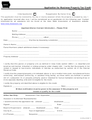 """Form 54-024A """"Application for Business Property Tax Credit"""" - Iowa"""