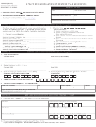 Form 10A104 Update or Cancellation of Kentucky Tax Account(S) - Kentucky
