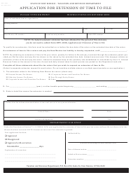 "Form RPD-41096 ""Application for Extension of Time to File"" - New Mexico"