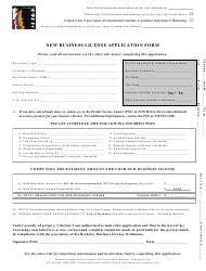 """New Business License Application Form"" - City of Berkeley, California"