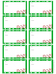Christmas Noel Gift Tag Template