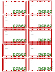 Christmas Peace Gift Tag Template
