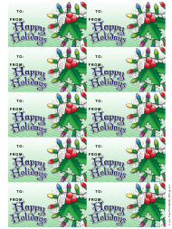 """""""Holly Gift Tag Template"""""""