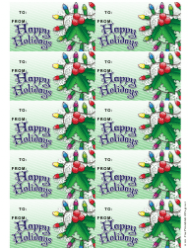 Holly Gift Tag Template