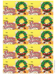 Wreath Gift Tag Template