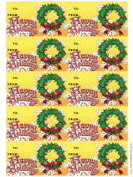 """""""Wreath Gift Tag Template"""""""