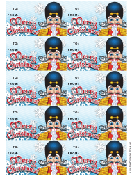 """Christmas Nutcracker Gift Tag Template"""