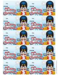 Christmas Nutcracker Gift Tag Template
