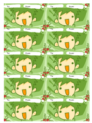 """""""Green Boy Gift Tag Template"""""""
