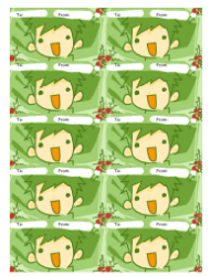 Green Boy Gift Tag Template