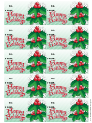 """""""Happy Holidays Gift Tag Template - Snowflakes"""""""
