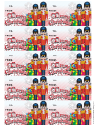 """Christmas Nutcrackers Gift Tag Template"""