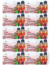 Christmas Nutcrackers Gift Tag Template