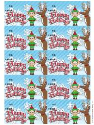 """""""Happy Holidays Gift Tag Template"""""""