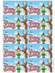 Happy Holidays Gift Tag Template