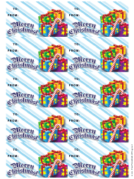 """Christmas Presents Gift Tag Template"""