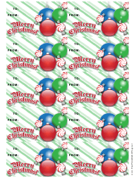 """Christmas Ornaments Gift Tag Template"""