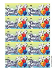 Happy Hanukkah Dreidels Gift Tag Template