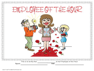 """""""Employee of the Hour Certificate Template"""""""