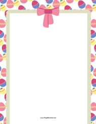 """Easter Eggs and Bow Page Border Template"""