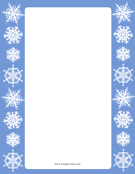 Snowflakes Page Border Template