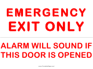 """Emergency Exit Sign Template"""