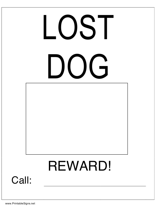 """""""Lost Dog Poster Template"""" Download Pdf"""