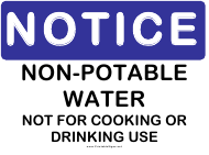 """Non-potable Notice Sign Template"""