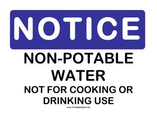 """""""Non-potable Notice Sign Template"""""""