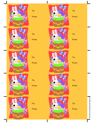 """Easter Bunny Gift Tag Template"""