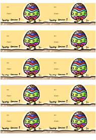 """Happy Easter Gift Tag Template"""