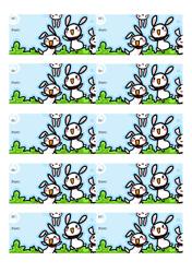 Rabbits Gift Tag Template