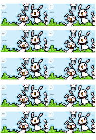 Rabbits Gift Tag Template