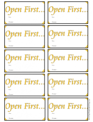 Open First Gift Tag Template