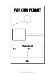 Hanging Parking Permit Tag Template