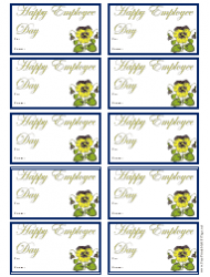 Happy Employee Day Gift Tag Template