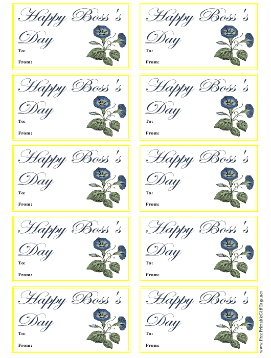 boss day gift tag template download printable pdf templateroller