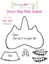 """""""Unicorn Eye Sleep Mask Template"""""""