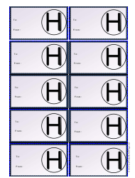 Monogram H Gift Tag Template