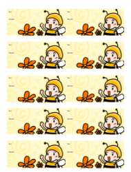 Baby Bee Gift Tag Template