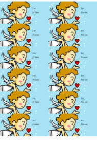 """Cupid Gift Tag Template"""