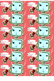"""""""Valentine Robot Gift Tag Template"""""""