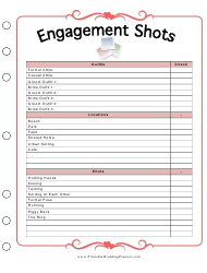 Engagement Shots Planner Template