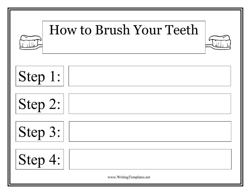 """""""Teeth Brush Plan Template"""" Download Pdf"""