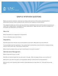 """Sample Interview Questions - Unc"""