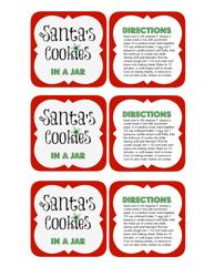 """""""Santa's Cookies Gift Tag Templates"""""""
