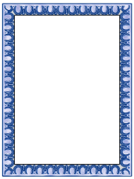 """Blue Horseshoe Page Border Template"""