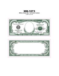 """""""Full Color Million Dollar Bill Template"""""""