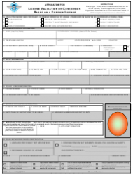 Form 540 Application for License Validation or Conversion Based on a Foreign License
