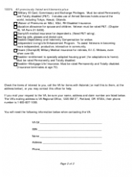 Entitlements for Veterans Who Have No Disabilities Checklist Form - Oregon, Page 3